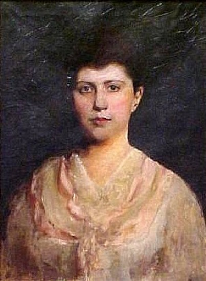 Viola Cockroft (Aunt Ola) (Painting started by Emma Beach Thayer, finished but not signed by Abbott H. Thayer)