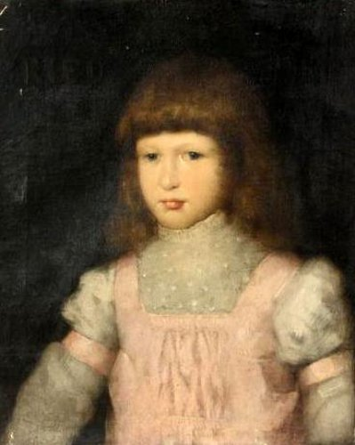 Young Girl In A Pink Pinafore