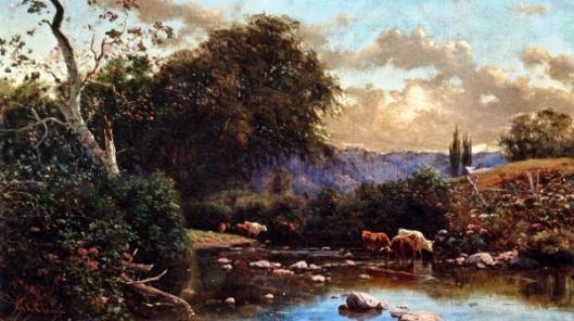 Cattle In A Stream