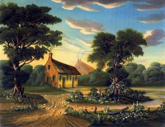 Cottages In A Landscape - The Birthplace Of Burns
