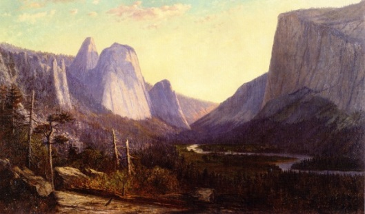 El Capitan And Cathedral Rocks