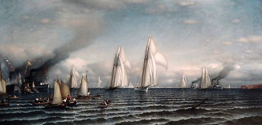 Finish - First International Race For America's Cup, August 8, 1870