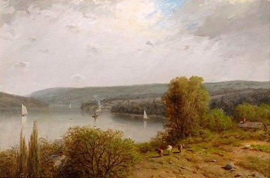 Hudson River Scene With Cattle