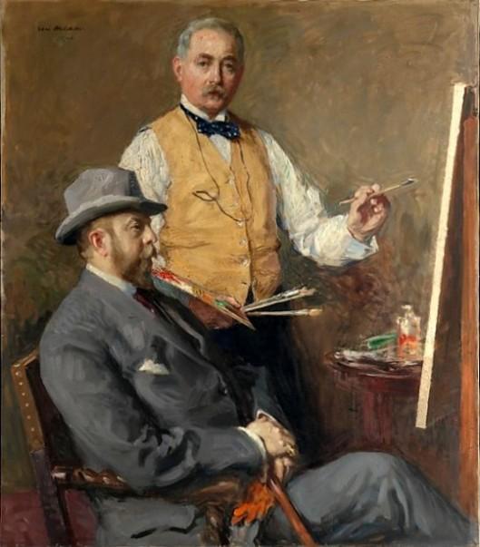 In The Studio (Gari Melchers and Hugo Reisinger)