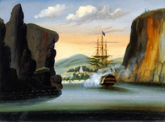 Indiaman Saluting The Island Of St. Helena
