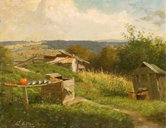 Landscape With Pumpkin