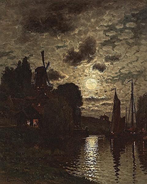 Moonlit Harbor