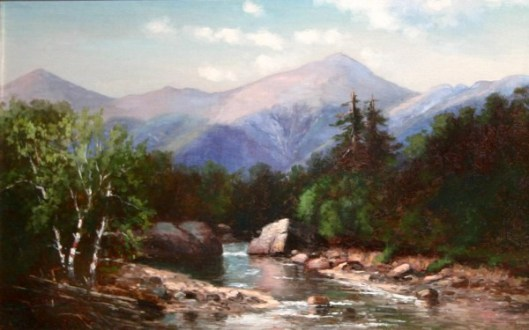 Presidential Range And The Ammonoosuc River