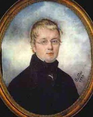 Young Gentleman Wearing Black Coat And Spectacles