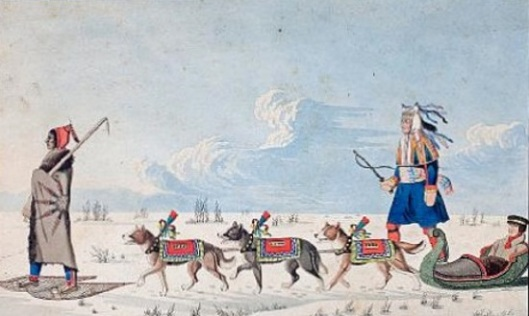 A Dog Cariole Only Used In Winter By Canadian Indians