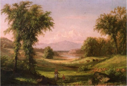 A New Hampshire Landscape, With Elma Mary Gove In The Foreground