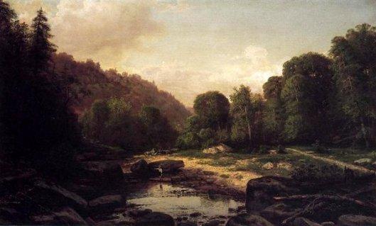 Boy Fishing In Mountain Stream, Mifflin County