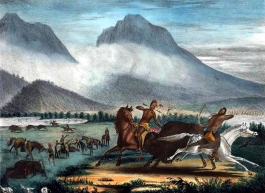 Buffalo Hunt On The River Platte