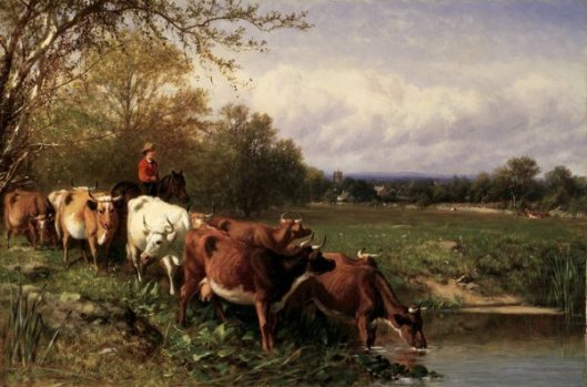 Cattle And Landscape (with Arthur Fitzwilliam Tait)