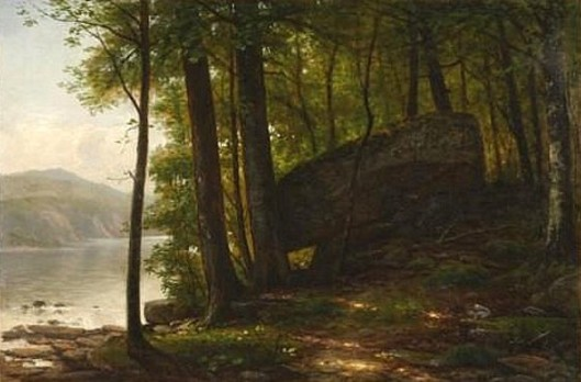Forest Landscape At Water's Edge