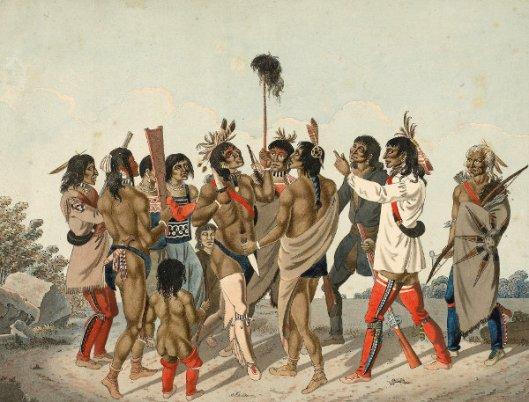 Indians Dancing Round The Scalp Of An Enemy Singing Their War Song