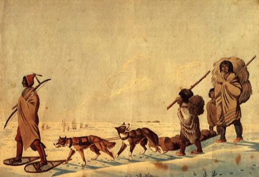 Indians In Winter
