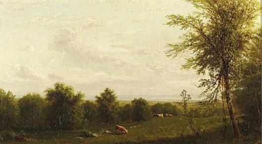 Landscape With Cattle And Pasture