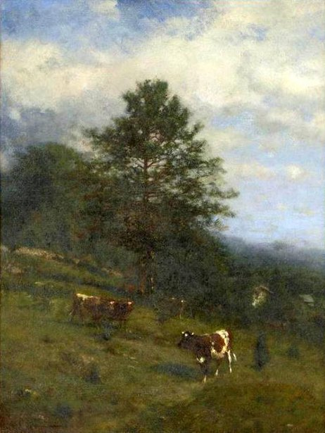 Landscape With Grazing Cattle