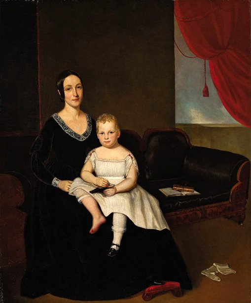 Matilda Eleanor Bowie Moore With Her Son Joseph Regis Bowie Moore