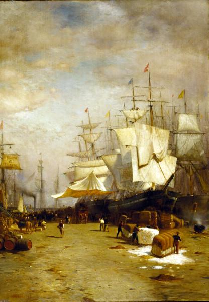 Ships Unloading, New York