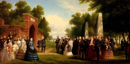 The Prince of Wales And President Buchanan Visit The Tomb of Washington At Mount Vernon