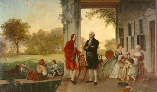 Washington And Lafayette At Mount Vernon