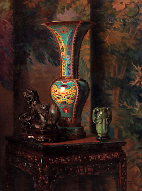 A Still Life With Chinese Objects
