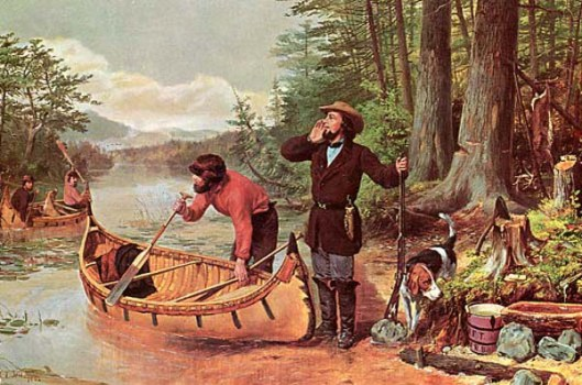 American Hunting Scene - An Early Start - Going Out - Deer Hunting In The Adirondacks