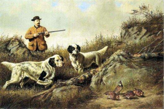 Amos F. Adams Shooting Over Gus Bondher And Son
