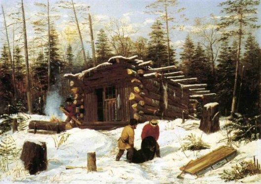 Bringing Home Game - Winter Shanty At Ragged Lake