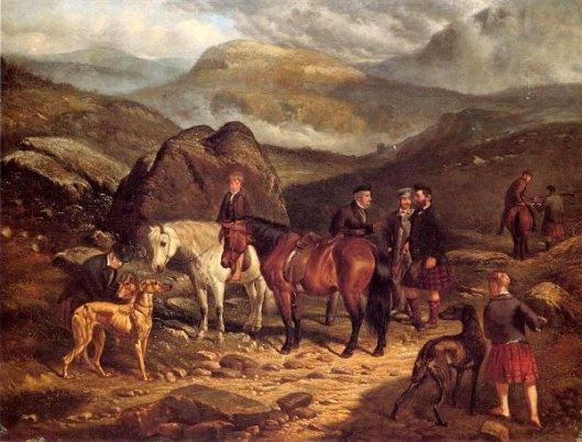 Hunting On The Scottish Highlands
