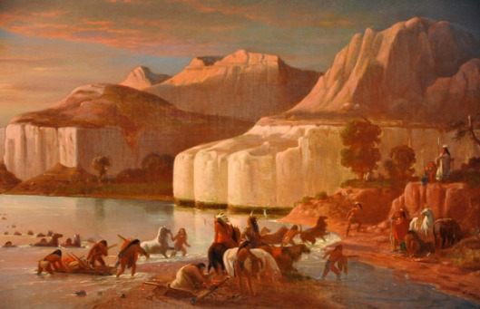 Indians Crossing The Upper Missouri