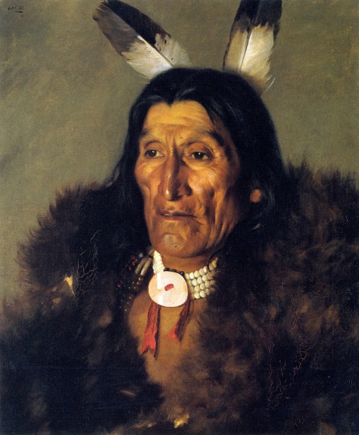 Sioux Chief In Buffalo Robes
