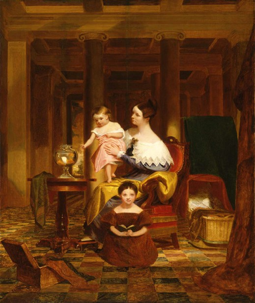 The Goldfish Bowl (Mrs. Richard C. Morse And Her Two Children)