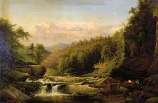 A River In A Hilly Landscape