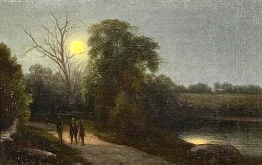 Figures On A Moonlit Path