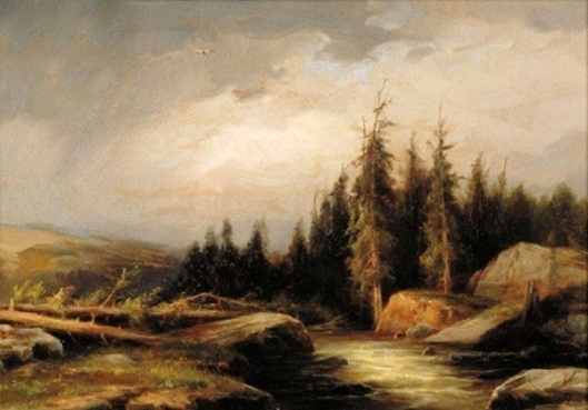 Landscape With Soaring Eagle