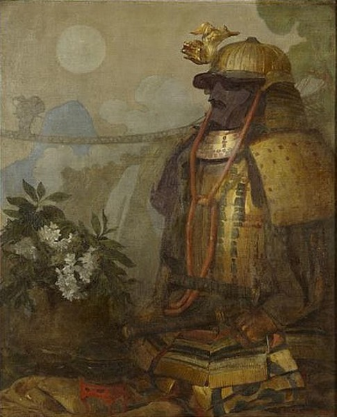 The Full Moon - Oriental Still Life With Samurai Armor
