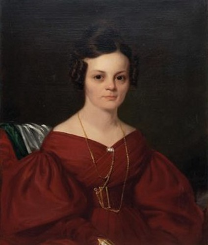 Woman In Crimson Dress
