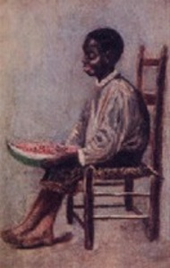 Black Boy With Watermelon