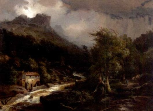 European Landscape With Mill And Stream