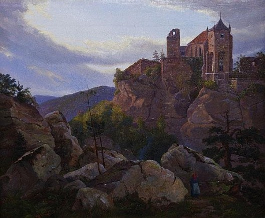 Rocky Landscape With Ruins
