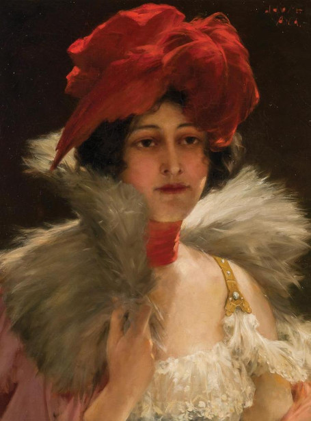 Woman In A Feathered Hat