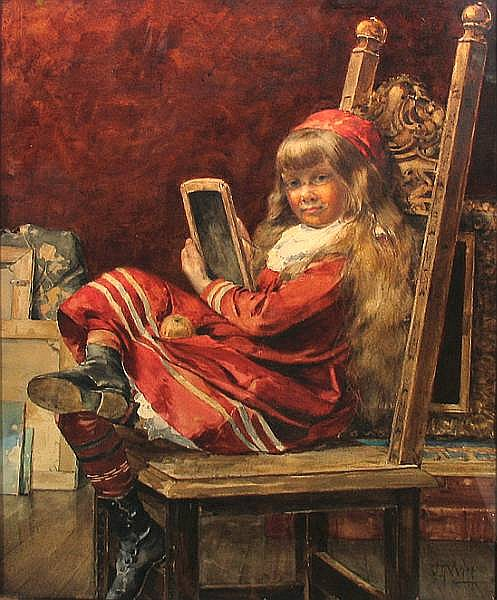 Young Girl Sketching