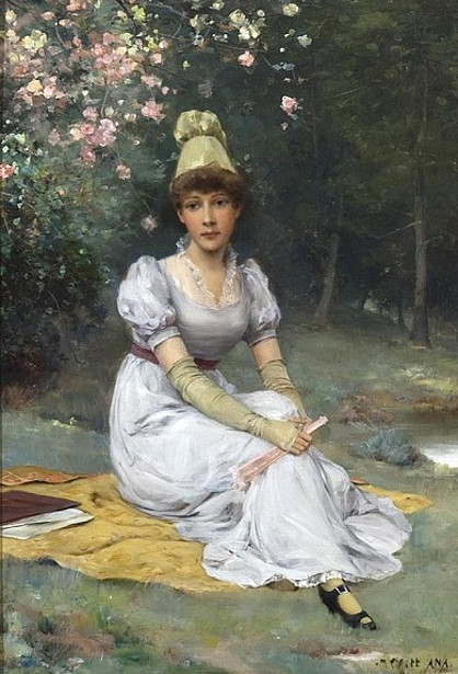 Young Lady In Landscape