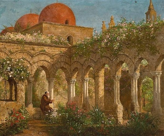 Cloister In Palermo - The Lonely Monk