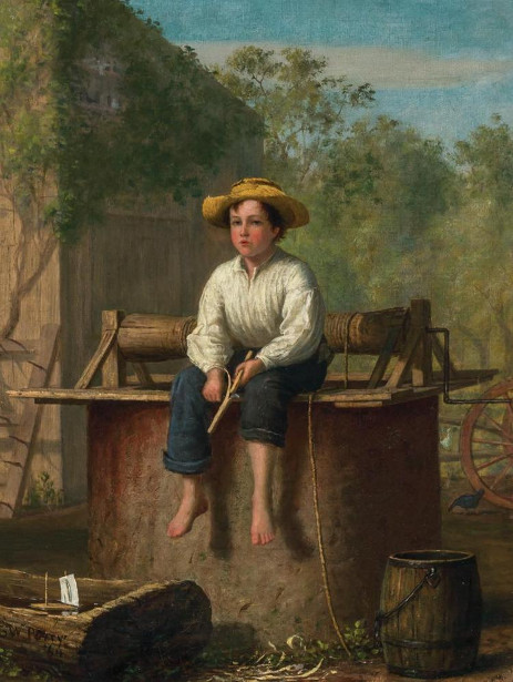 Farm Scene - Boy By A Well