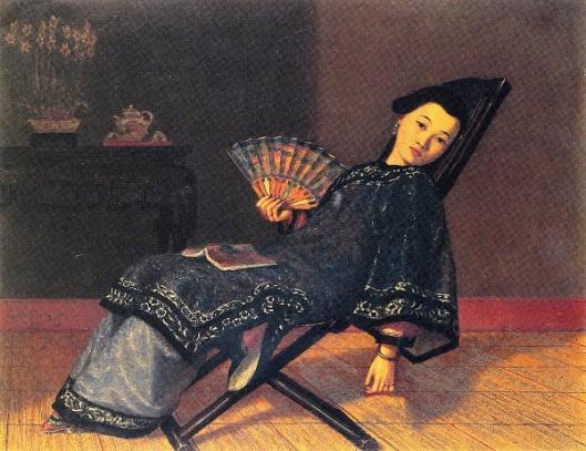 Oriental Lady With Fan