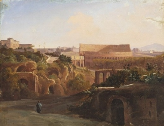 Scene From Rome, With View Of The Colosseum